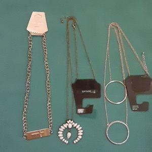 Bundle of 3 nwt necklaces